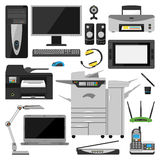 Vettore dei mobili d'ufficio del computer illustrazione di stock