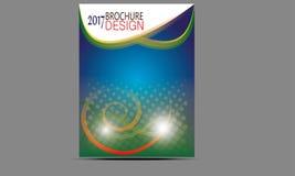 Vettore dei modelli di progettazione dell'opuscolo dell'aletta di filatoio Immagine Stock