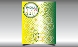 Vettore dei modelli di progettazione dell'opuscolo dell'aletta di filatoio Immagini Stock Libere da Diritti