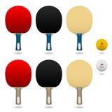 Vettore del blocco della pala di scossa della mano di ping-pong Fotografia Stock