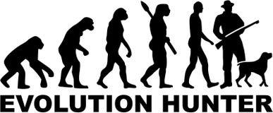 Vettore del cacciatore di evoluzione Fotografie Stock