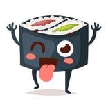 Vettore del carattere dei sushi Fotografia Stock
