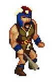 Vettore del carattere del gioco di stile del pixel Immagine Stock Libera da Diritti