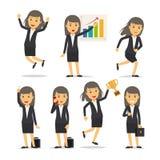 Vettore del carattere della donna di affari illustrazione di stock