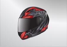 Vettore del casco del motociclo illustrazione vettoriale