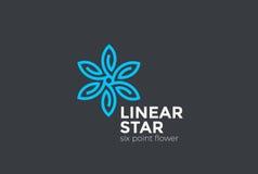 Vettore del ciclo di infinito di progettazione di logo del fiore della stella marchio illustrazione vettoriale