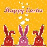 Vettore del coniglio di vettore di Pasqua Immagini Stock Libere da Diritti