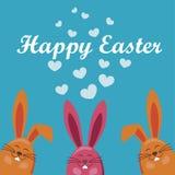 Vettore del coniglio di vettore di Pasqua Fotografia Stock