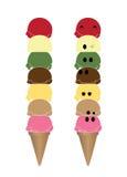 Vettore del cono gelato Illustrazione Vettoriale