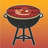 Vettore del Cookout del BBQ della griglia Fotografie Stock