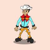 Vettore del cowboy del fumetto Fotografie Stock Libere da Diritti