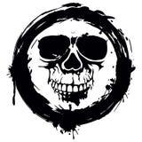 Vettore del cranio di Grunge Fotografia Stock