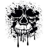 Vettore del cranio di Grunge Immagini Stock