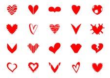Vettore del cuore Fotografie Stock