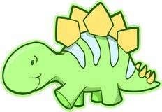 Vettore del dinosauro dello Stegosaurus illustrazione di stock