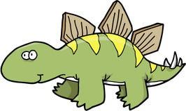 Vettore del dinosauro dello Stegosaurus royalty illustrazione gratis