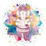 Vettore del dio di Ganesha illustrazione di stock
