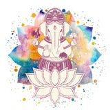 Vettore del dio di Ganesha illustrazione vettoriale