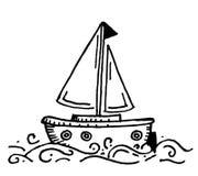 Vettore del disegno della barca Fotografie Stock