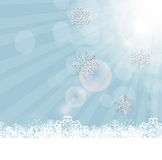 Vettore del fondo dei fiocchi di neve di Natale Fotografia Stock Libera da Diritti