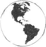 Vettore del fondo della mappa del Sudamerica e di Nord Fotografie Stock Libere da Diritti