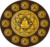 Vettore del fondo di Buddha Fotografie Stock Libere da Diritti