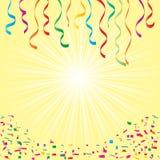 Vettore del fondo di funzione di compleanno dei coriandoli illustrazione di stock