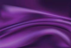 Vettore del fondo viola del tessuto di seta Fotografia Stock