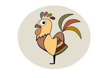 Vettore del fumetto del gallo Fotografia Stock