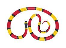 Vettore del fumetto del rettile del serpente Fotografia Stock Libera da Diritti