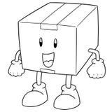 Vettore del fumetto della scatola illustrazione di stock