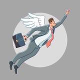 Vettore del fumetto di angelo di affari Immagine Stock