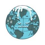 Vettore del fumetto di riscaldamento globale Immagine Stock