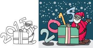 Vettore del fumetto di Santa ed il giorno del natale Immagini Stock Libere da Diritti