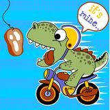Vettore del fumetto del motociclista illustrazione di stock