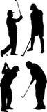 Vettore del giocatore di golf Immagini Stock