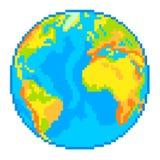 Vettore del globo della terra del pixel Fotografia Stock Libera da Diritti
