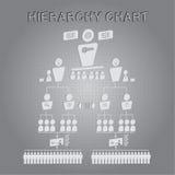 Vettore del grafico di gerarchia organizzativa Fotografie Stock Libere da Diritti