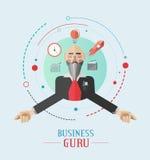 Vettore del guru di affari con le icone Immagine Stock Libera da Diritti