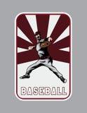 Vettore del lanciatore di baseball Fotografia Stock Libera da Diritti