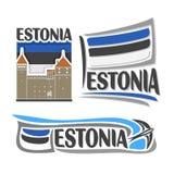 Vettore del logo per l'Estonia illustrazione vettoriale