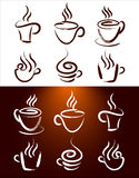 Vettore del logos del caffè Fotografia Stock