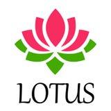 Vettore del loto del fiore di Lotus con testo Fotografia Stock Libera da Diritti