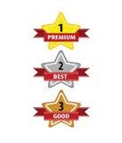 Vettore del marchio di qualità della stella per l'etichetta di affari Illustrazione di Stock