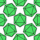 Vettore del modello dell'icosaedro Fotografia Stock Libera da Diritti