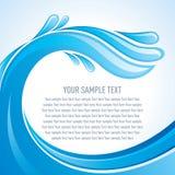 Vettore del modello e dello spazio dell'acqua per il vostro testo Fotografie Stock Libere da Diritti