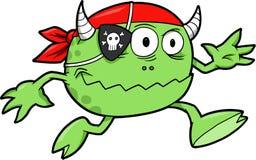 Vettore del mostro del pirata Immagini Stock