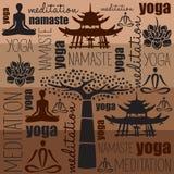 Vettore del namaste di meditazione di yoga Fotografia Stock Libera da Diritti