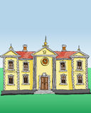 Vettore del palazzo reale Immagine Stock