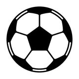 Vettore del pallone da calcio Fotografia Stock